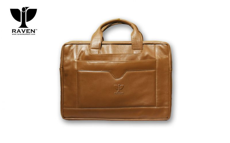 This is front side Leather Office Backpack Rob 03
