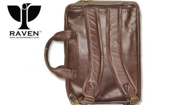 This is a Leather Office Backpack, style Rob 04