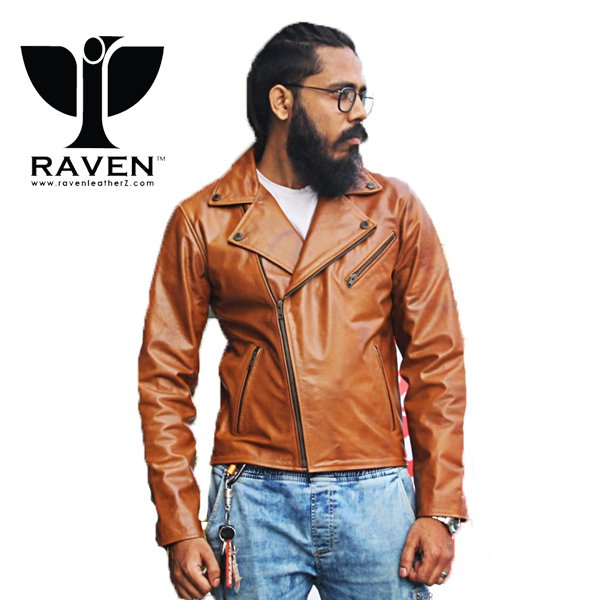 RW-09 Duel Tone Biker Jacket For Men