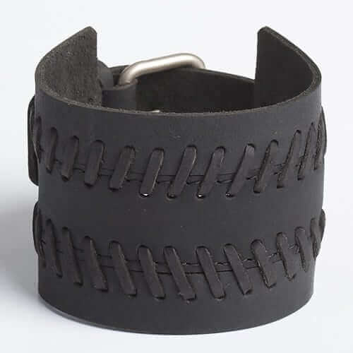 Black-Stitching-Style-Leather-Wristband-for-Men-in-Bangladesh