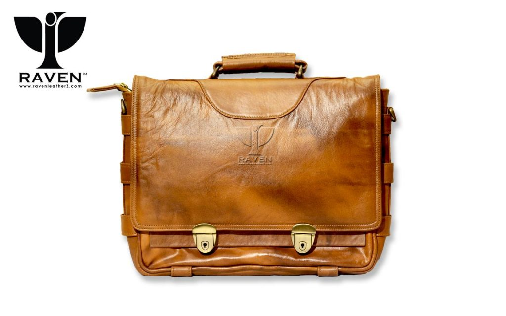 Duel-Tone-Vintage-Look-Official-leather-bag-RMMB-02-Front-Side
