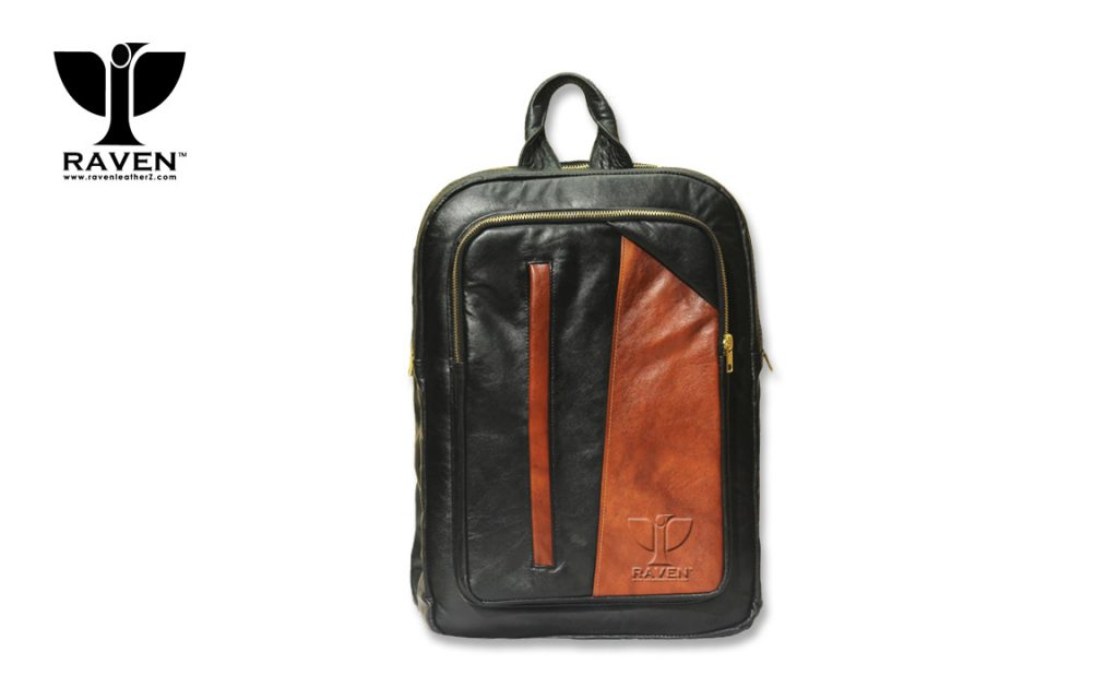 Multi-color-Contrast-leather-laptop-bag-Front