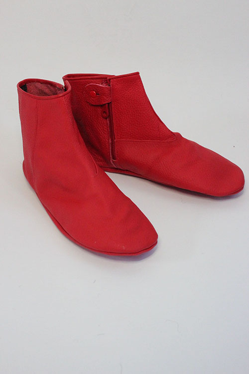 Red-Color-Genuine-leather-sock