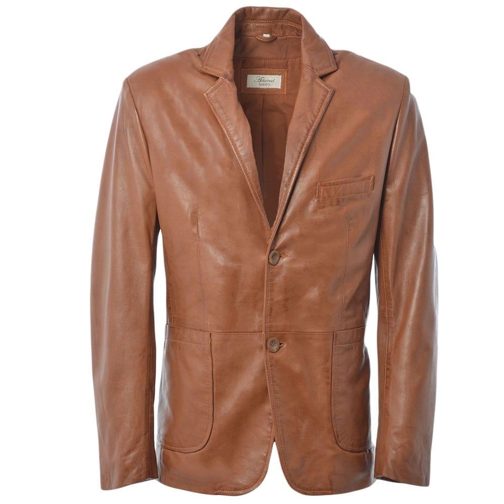 Ash-Wood-Color-Slim-Fit-Leather-Blazer-for-Men-in-BD