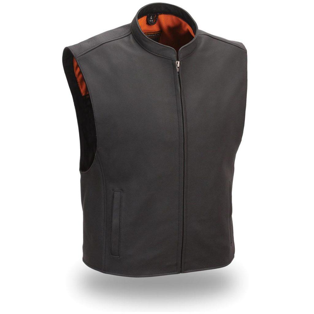 Black-Matt-Sleeveless-Leather-Jacket-for-Men-in-BD