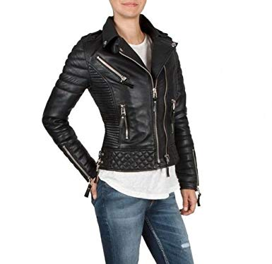 Black-Quilted-Slim-Fit-Cropped-Jacket-For-Women-in-BD