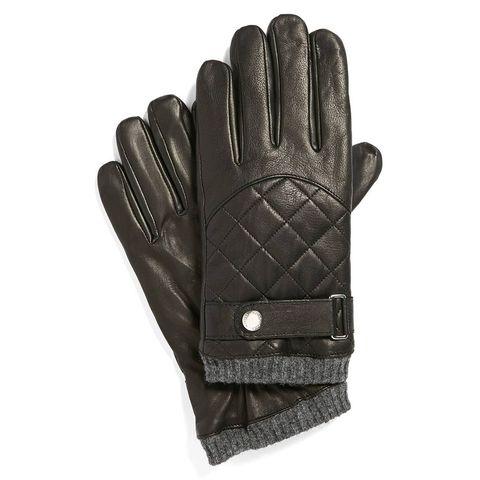 Black-Quilted-Upper-Leahter-Hand-Gloves-For-Men-in-BD