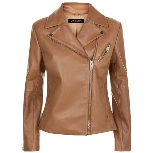 Bronze- Color-Slim-Fit-Genuine-leather-ladies-Racing-jacket