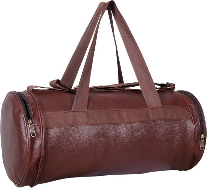 Brown-Genuine-Leather-Gym-Bag-For-Men-in-BD