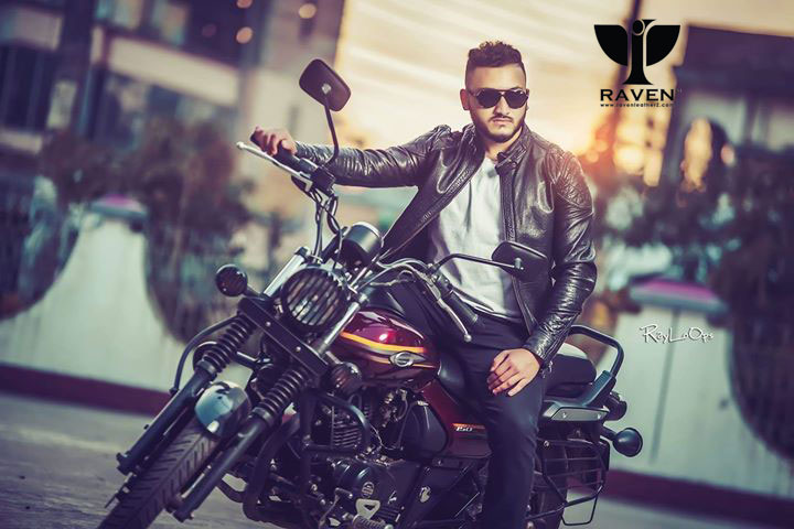 Black Motor Rider Jacket For Men in BD