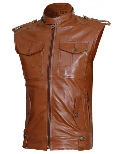 Deep-Master-Color-Sleeveless-Leather-Jacket-for-men-and-women in BD