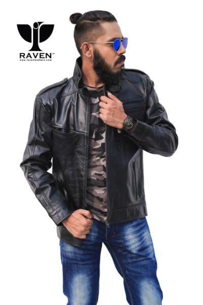 High-Neck-Cropped-Motor-Rider-Jacket