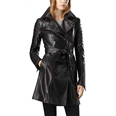 Ladies-Leather-Overcoat-in-Bnagladesh