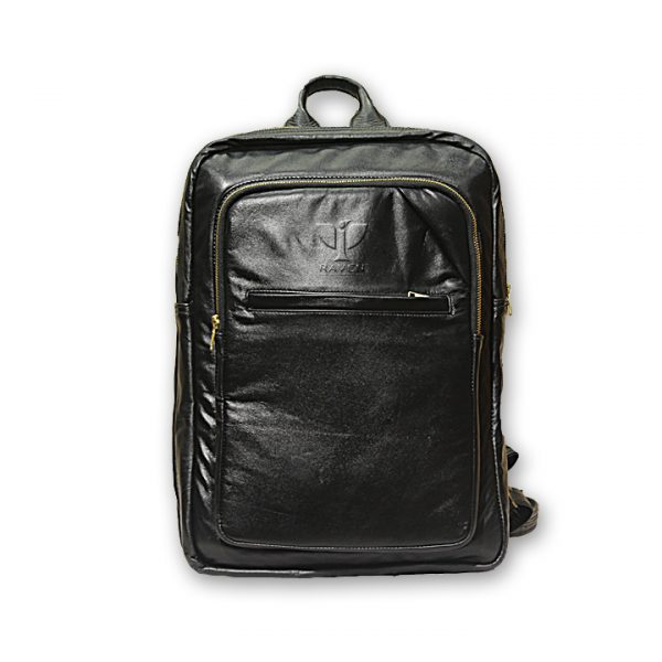 RAVEN-Genuine-Leather-Backpack-RUB06-front-side