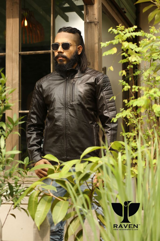 RE-08- Quilted Slim Fit Rider Jacket for Men