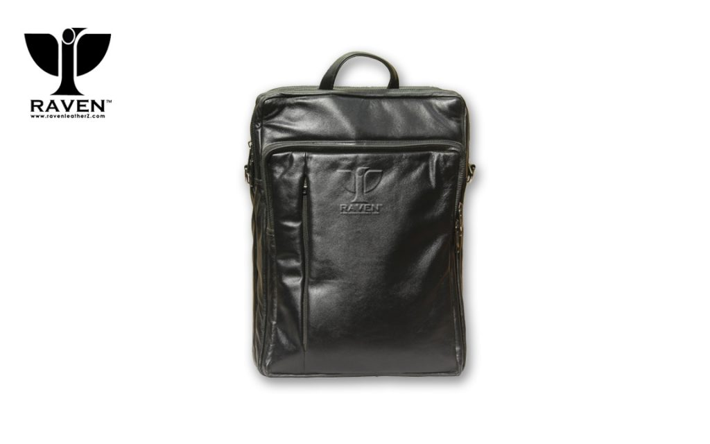 RUB-12-Genuine-Leather-Backpack-Front-View