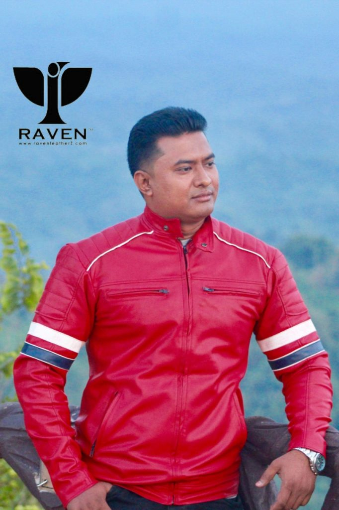 Online Jacket Shopping Red-Color-Sports-Jacket-for-Motorcycle-Rider-in-Bangladesh