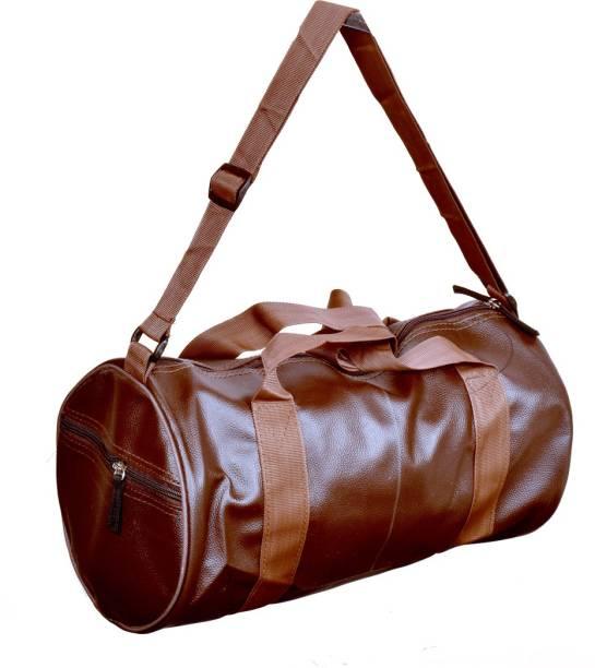Vintage-Brown-Leather-Gym-Bag-For-Men-in-BD