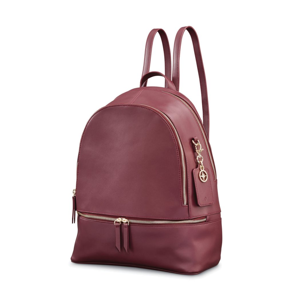 Wine-Color-Ladies-Leather-Backpck-in-BD