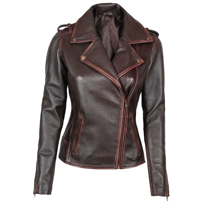 Women_Dark_Brown_Leather_Jacket_with_Distressed_Edge_Finishing
