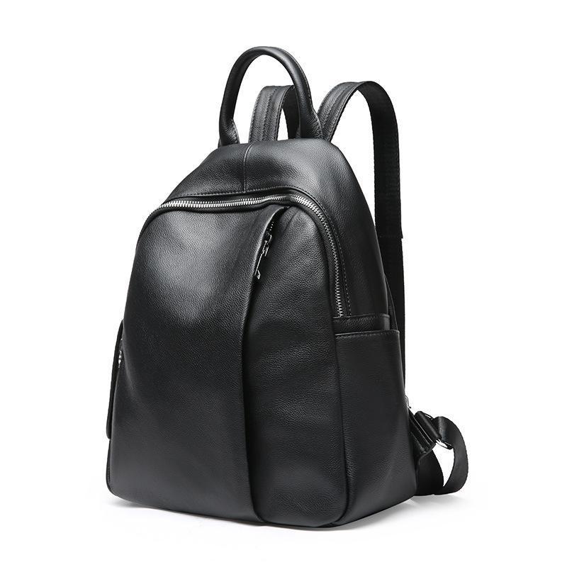 shinny-black-genuine-leather-ladies-backpack-2019-in-BD