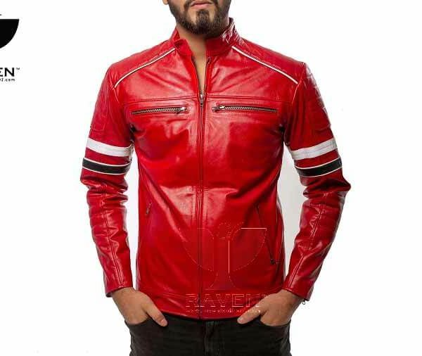 RA-24 Red Color Formula One Style Slim Fit Racing Jacket For Men