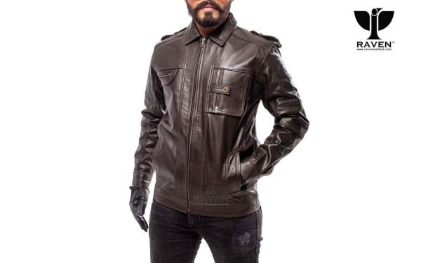 RJ-10 Slim Fit Shirt Collar Aviator Jacket