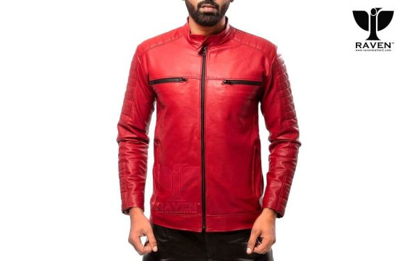 RR-06 ( R ) SLIM FIT QUILTED MOTO RIDER JACKET FOR MEN