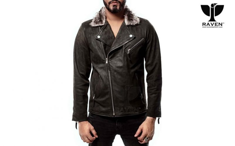 RBH-10 Stylish Slim Fit Cropped Biker Jacket for Men