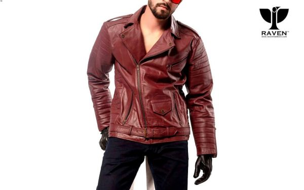 RW-10 ( W ) Slim Fit CROPPED QUILTED BIKER JACKET WITH BELT