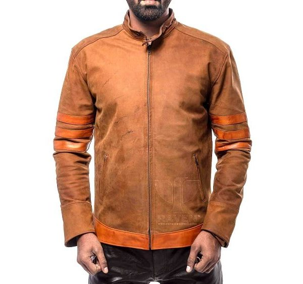 Hugh Jackman Wolverine or X Man Leather Jacket For Men