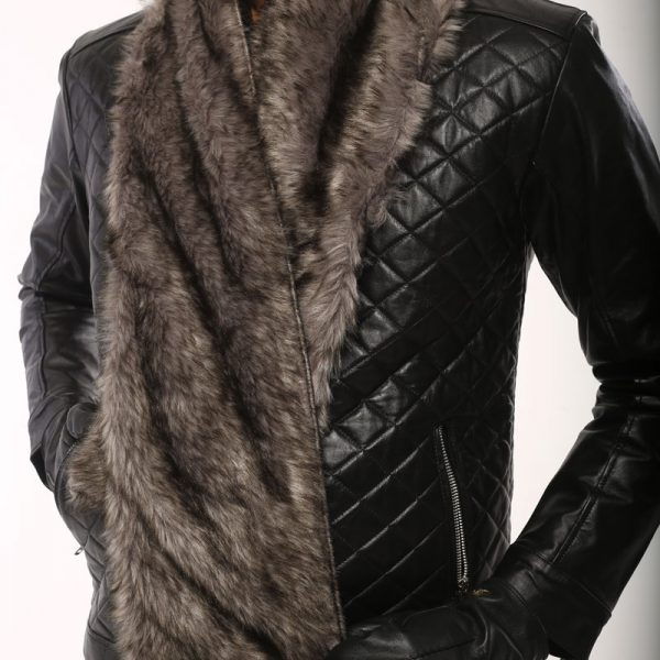 Leather Muffler Scarf