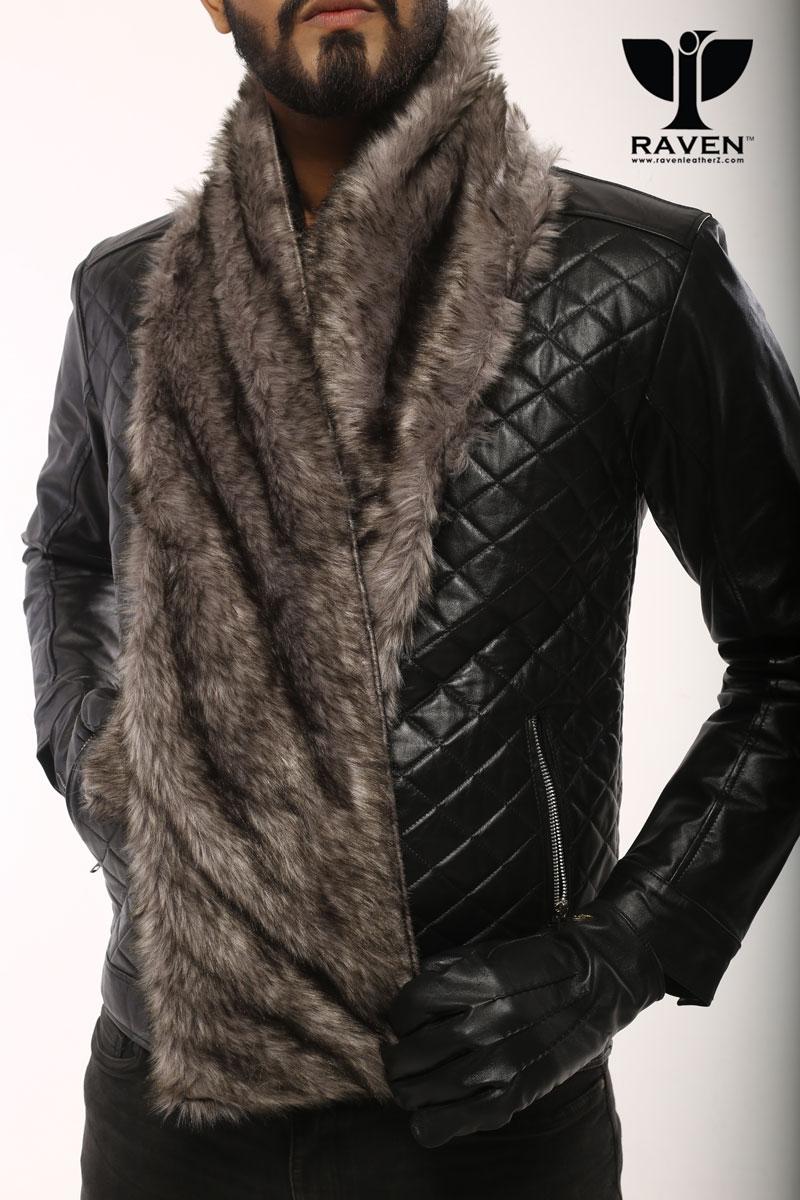 Leather Muffler Scarf