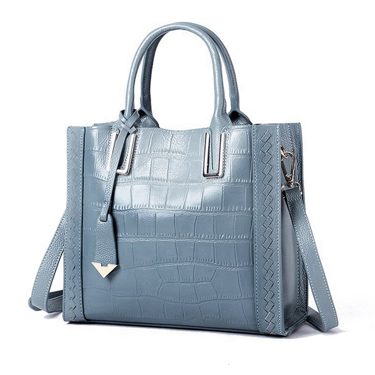 Alligator-Print-Cowhide-Leather-Hand-Tote-Bag-for-Business-Women