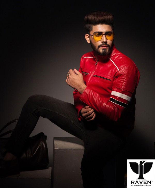 Formula One Style Slim Fit Cropped Jacket For Men