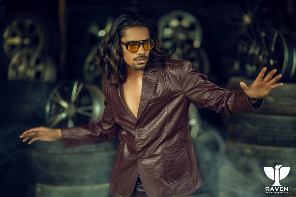 RBC-09 Crocodile Embossed Slim Fit Genuine Leather Blazer For Men