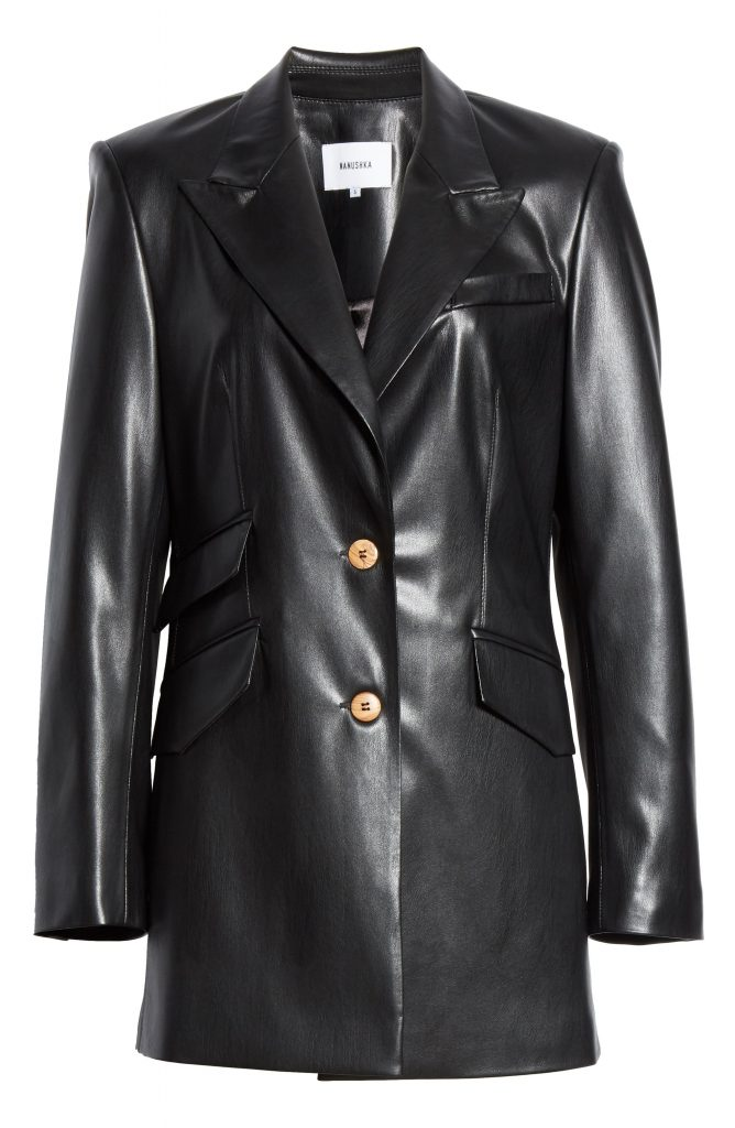 Semi-long-Black-Color-Genuine-Leather-Pull-Over