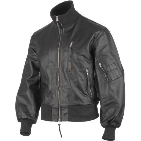 Black Color Genuine Leather Flight Jacket for Men